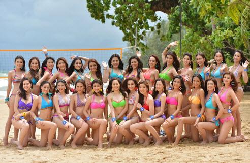 28 สาวงามฯ ถ่ายชุดว่ายน้ำ และ ภาพกิจกรรม sport day