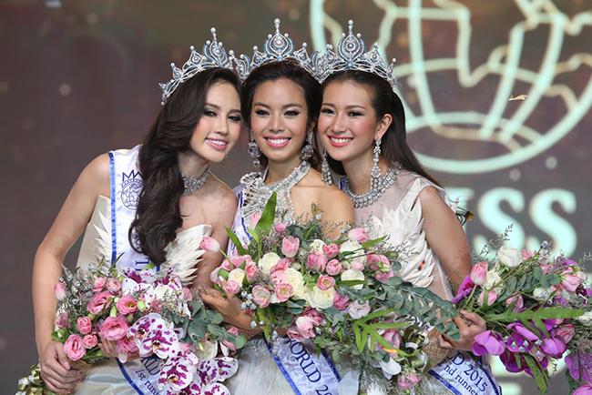 """รอบตัดสิน """"มิสไทยแลนด์เวิลด์ 2015"""" เฟร้นฟราย ธันยชนก มูลนิลตา ได้มงกุฎอันทรงเกียรติไปครอบครอง"""