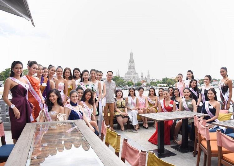 30 สาวงามผู้เข้าประกวดมิสไทยแลนด์เวิลด์ 2018 รับประทานอาหาร พร้อมล่องเรือสุพรรณิการ์ครูซ (Supannicacruise)