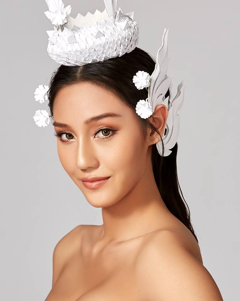 """ภาพ Portrait คอนเซ็ปต์เครื่องหัว """"Modern Thai"""" ของ 30 สาวงาม ผู้เข้าประกวดมิสไทยแลนด์เวิลด์ 2018"""