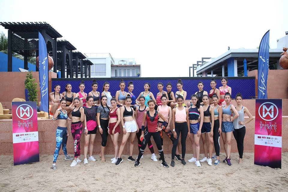 การแข่งขันรอบฟาสแทร็กส์รอบทักษะกีฬา ของ 30 สาวงาม ผู้เข้าประกวดมิสไทยแลนด์เวิลด์ 2018