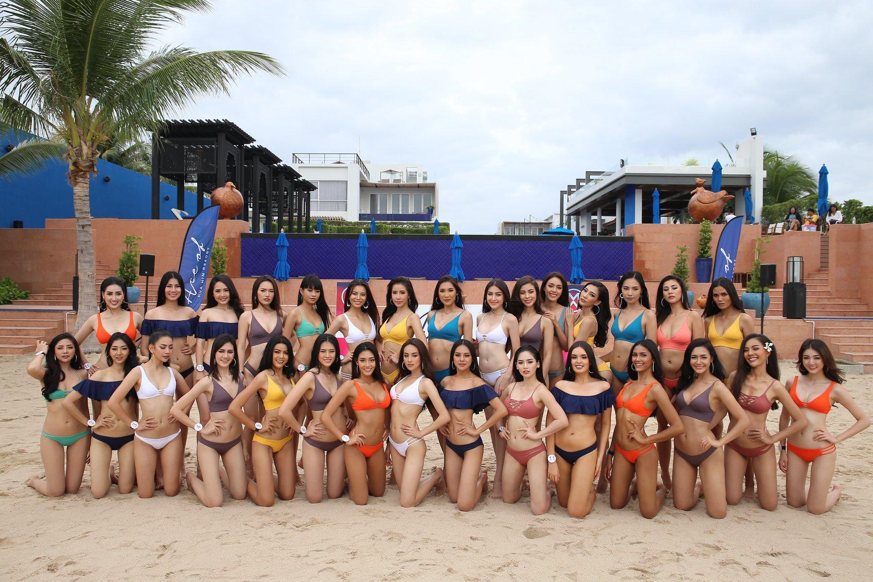 30 ผู้เข้าประกวดมิสไทยแลนด์เวิลด์ 2018 ถ่ายชุดว่ายน้ำ @ Ace of Hua Hin Resort