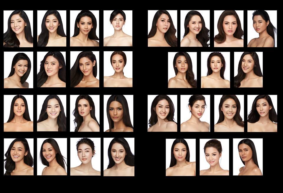 ภาพ Portrait  ของ 30 สาวงาม ผู้เข้าประกวดมิสไทยแลนด์เวิลด์ 2018