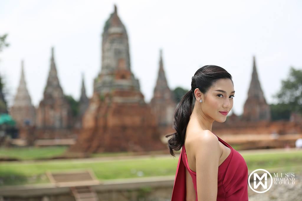 """นิโคลีน """"มิสไทยแลนด์เวิลด์ 2018"""" สุดตื่นเต้น ถ่ายวีทีอาร์แนะนำตัว 3 ภาษา ไทย-จีน-อังกฤษ ส่งกองมิสเวิลด์  ก่อนลัดฟ้าประกวดที่ประเทศจีน เผยอยากมีส่วนร่วมดึงความเชื่อมั่นเที่ยวไทย"""