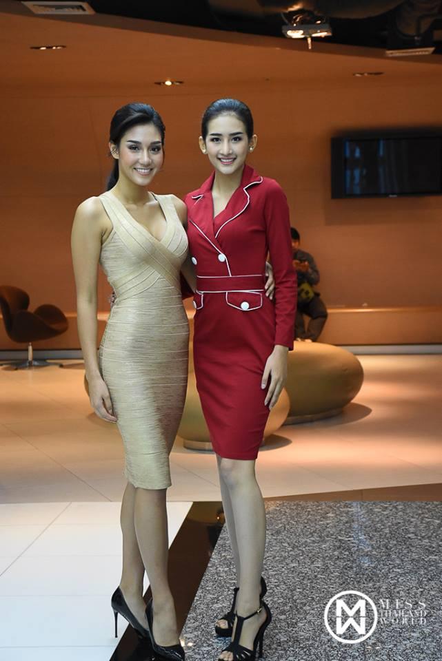 นิโคลีน Miss Thailand World 2018 & Han Thi Miss World – Myanmar from Sanya , China