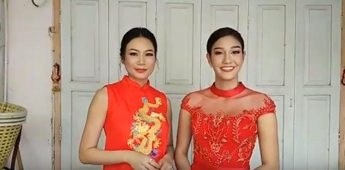 นิโคลีน-นิ้ง 2 สาวงามจากเวทีไทย ถ่ายสกู๊ปอวยพรเทศกาลตรุษจีน 2019