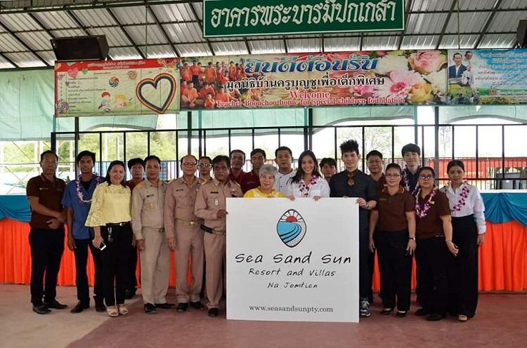 นิโคลีน ร่วมด้วย Sea Sand Sun Resort & Villas   ทำกิจกรรม Love For All มูลนิธิบ้านครูบุญชูเพื่อเด็กพิเศษ จ.ชลบุรี