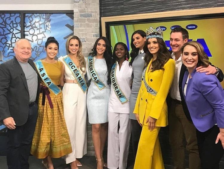 คณะ Miss World เดินสายออกสื่อที่รัฐ Iowa สหรัฐอเมริกา เพื่องานการกุศล 45th Annual Variety Telethon 2019 at ABC5