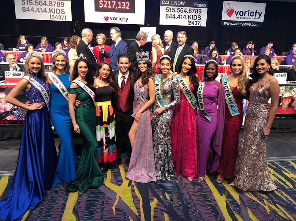 คณะ Miss World  ร่วมระดมทุนงานการกุศล