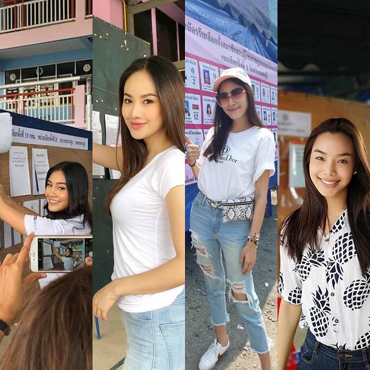 ส่องสาวๆ มิสไทยแลนด์เวิลด์สวยออร่าล้นคูหาเลือกตั้ง 2562