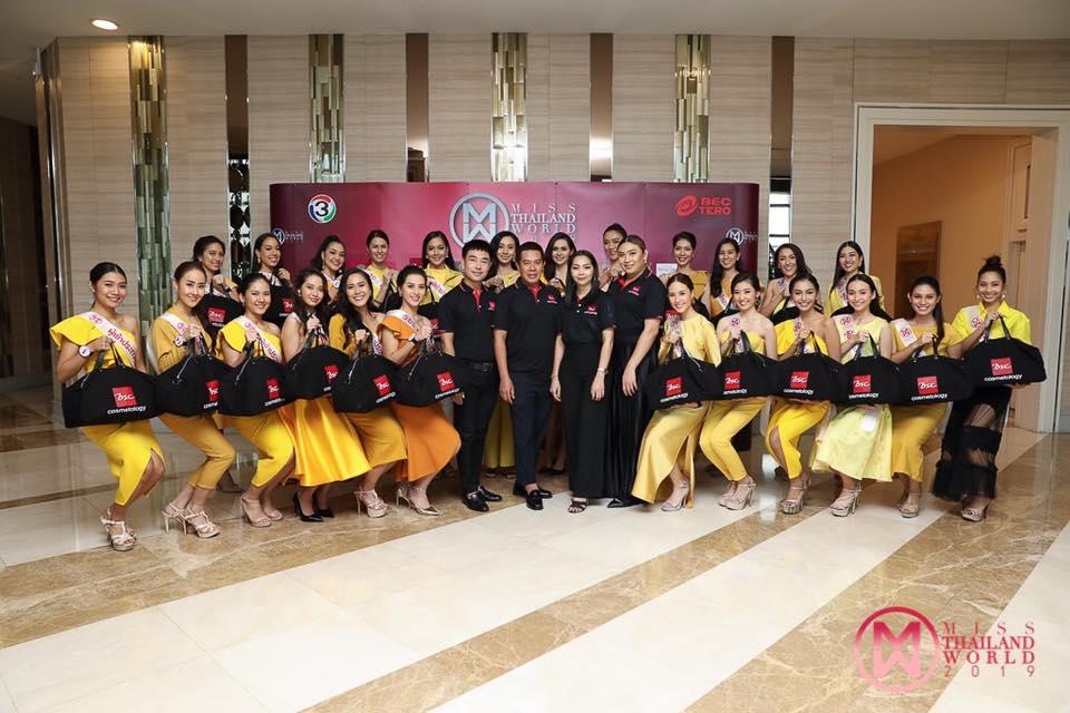 24 สาวงามผู้เข้าประกวดมิสไทยแลนด์เวิลด์ 2019 เข้า workshop เรียนแต่งหน้าโดย BSC Cosmetology