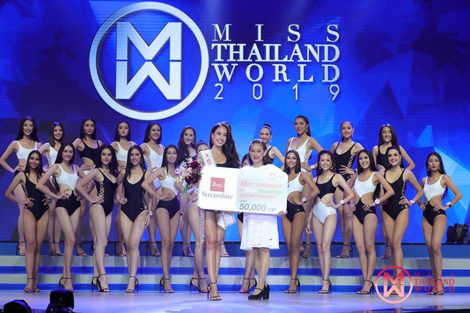 """""""มิสไทยแลนด์เวิลด์ 2019"""" รอบซ้อม 24 สาวงามโชว์โฉมชุดว่ายน้ำ ประกาศรางวัล BSC Swimsuit"""