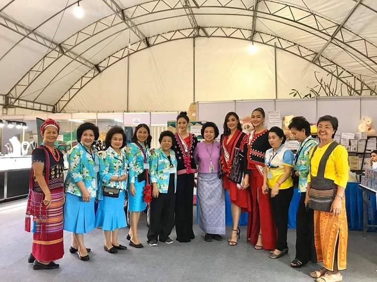 3 สาว มิสไทยแลนด์เวิลด์ 2019 ร่วมงานกาชาดประจำปี 2562 ณ สวนลุมพินี