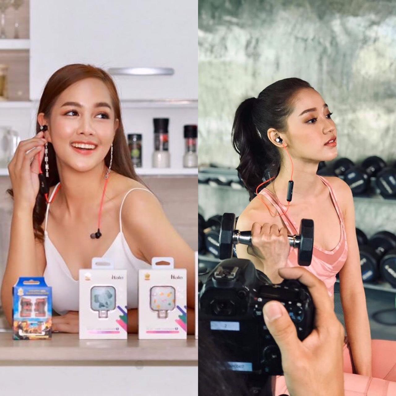 2 สาวรอง Miss Thailand World 2019 ร่วมถ่าย VTR ให้กับแบรนด์หูฟัง Hale