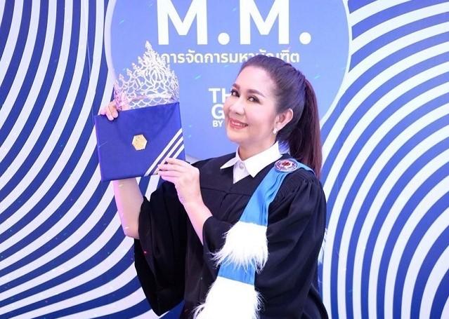 ขอแสดงความยินดีกับส้ม ชนากานต์ Miss Thailand World 1990 ที่คว้าปริญญามหาบัณฑิต มหาวิทยาลัยศรีปทุม