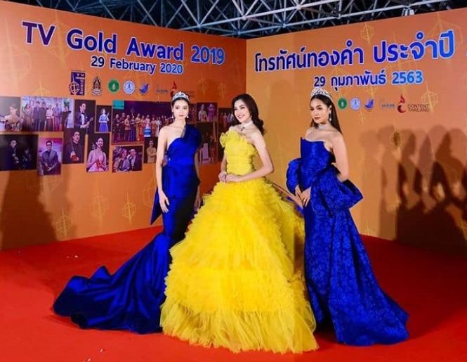 เกรซ นำทีมแผ่นฟิล์มและเนิส Miss Thailand World 2019 ร่วมงานประกาศรางวัลโทรทัศน์ทองคำประจำปี 2562