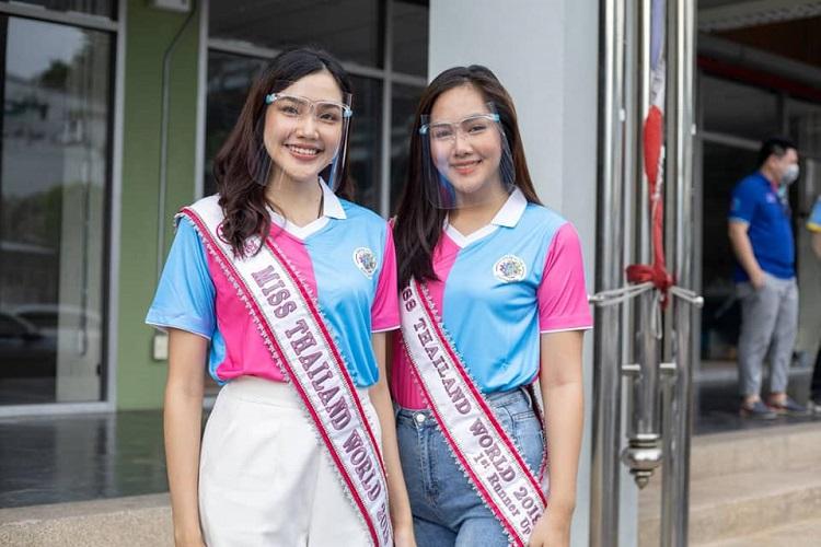 เกรซ-แผ่นฟิล์ม Miss Thailand World 2019 จับมือลงพื้นที่ชุมชนมิตรคราม สามเสน ซ.13
