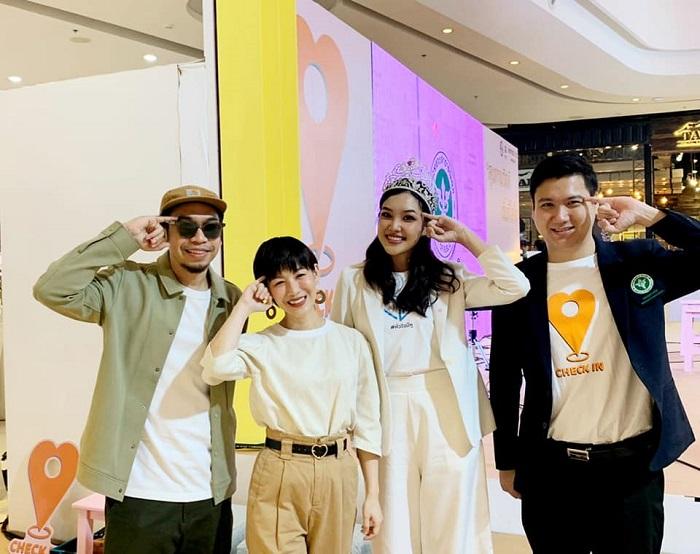 ภาพบรยากาศ เกรซ Miss Thailand World 2019 และ ทูตกรมสุขภาพจิต กระทรวงสาธารณะสุข ร่วมงานเสวนา