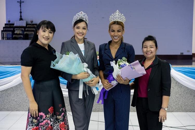 เกรซ Miss Thailand World 2019 ทำหน้าที่วิทยากรพิเศษโรงเรียนมาเรียลัย