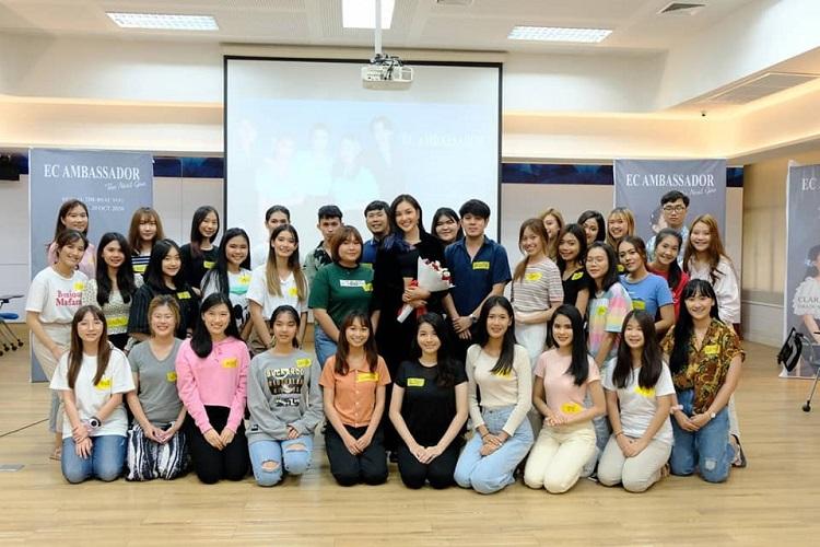 เกรซ Miss Thailand World 2019 วิทยากรด้านบุคลิกภาพในงานของทูตอนุรักษ์สิ่งแวดล้อมฯ ( EC Ambassador Tu)